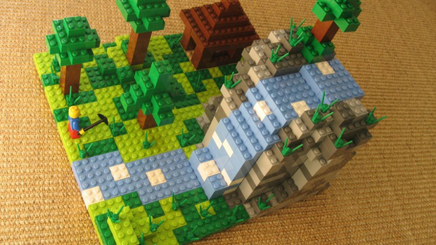 Как сделать в minecraft из лего